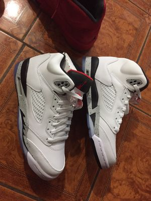 Air Jordan 5 white cement for Sale in Bronx, NY