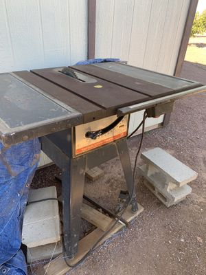 """Craftsman table saw 10"""" $120 for Sale in Goodyear, AZ"""
