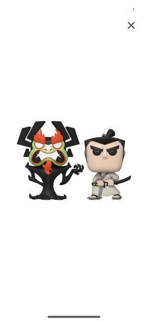 FUNKO POP! Aku & Samurai Jack 2-Pack fall convention limited edition exclusive In protective calse for Sale in Falls Church, VA