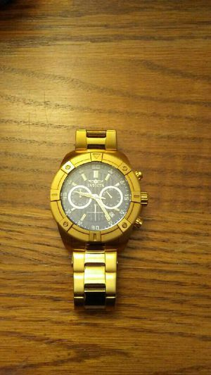 Mens invicta watch gold & blue for Sale in Rockville, MD