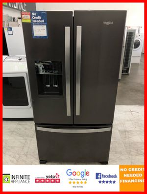 Whirlpool French Door Refrigerator (Take it home today with only $39 DOWN. No credIt needed) for Sale in San Jose, CA