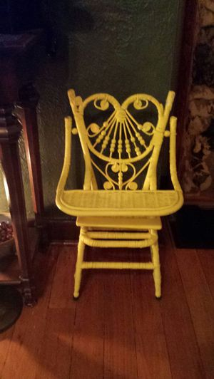 Antique wicker child's high chair. for Sale in Pittsburgh, PA