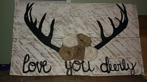 Love you deerly pallet sign for Sale in Kingsport, TN