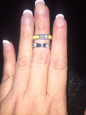 Set of 2 Lia Sophia rings size 7 both for $20 for Sale in West Miami, FL