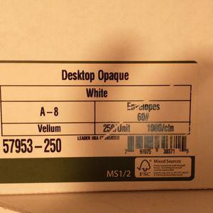 Desktop Publishing Supplies #57953- 343 A-8 White envelopes. 60# for Sale in Tampa, FL