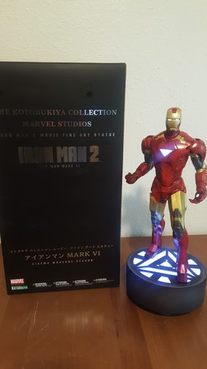 Iron Man 2 Mark VI light up Fine Art Statue Kotobukiya Collection serial number 1008/2500 for Sale in Tacoma, WA