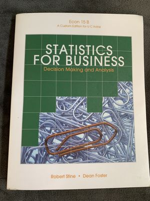 Statistics for business - stine/foster for Sale in Costa Mesa, CA