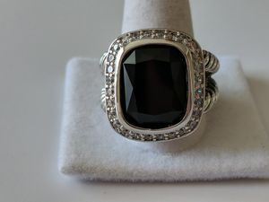 Designer style large onyx black ring for Sale in Mifflinburg, PA