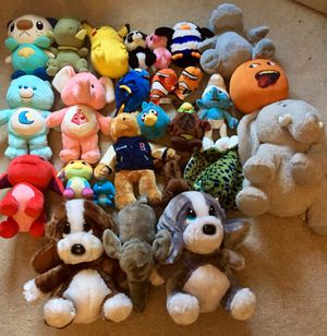 Lot of stuffed animals plush Pokémon Care Bears for Sale in Milford, MA