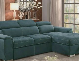 🍃Best Deal🚀Ferriday Blue Storage Sleeper Sectional by Homelegance for Sale in Philadelphia,  PA