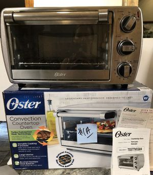 Oster 6-Slice Turbo Convection Countertop Oven Brushed Stainless TSSTTVCG04 for Sale in Three Rivers, MI