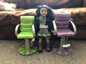 Beauty Salon 💇 High Chairs $5/each for American Girl or for Large Dolls / Staffed toys 🧸 for Sale in Alexandria, VA