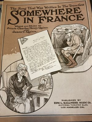 Antique WWI sheet music for Sale in Portland, OR
