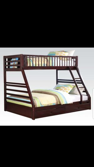 Bunk bed full size on bottom with drawers for Sale in Boca Raton, FL
