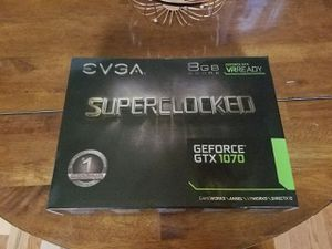 UNUSED EVGA GTX 1070 SUPERCLOCKED GPU for Sale in PA, US