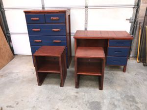 Beautiful Bedroom Set - Solid Wood for Sale in Indian Trail, NC