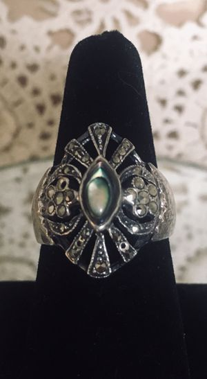 Vintage marcasite and Abalone ring for Sale for sale  Freeland, PA