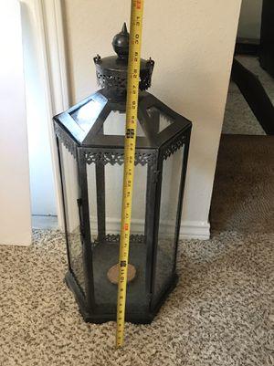 Elegant Metal & Glass 6 sided Lantern Candle Holder for Sale in Benbrook, TX