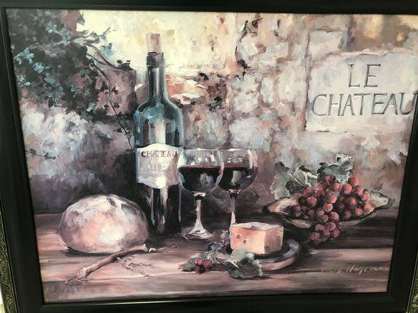 Wine picture frame Le Chateau by Marilyn Hageman