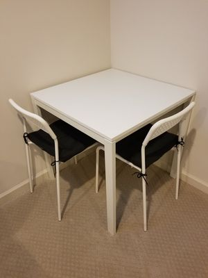 White square table with 2 chairs for Sale in Silver Spring, MD