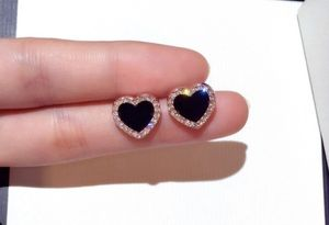 Rose Gold Black Sapphire Diamond CZ Heart Stud EarringsParty Jewelry Gifts for Sale in San Diego, CA