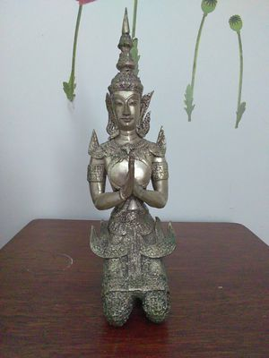 Siam Sawadee Buddhist Thai Angelsmade of bronze for Sale in Miami, FL