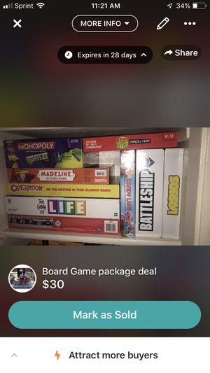 Family board games lot for Sale in Abilene, TX