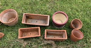 15 assorted flower pots and plant stand for Sale in Austin, TX