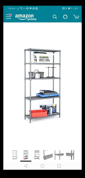 5 Tier Mesh Shelving Unit Metal Shelf Shelves Storage Organizer Rack for Sale in Las Vegas, NV