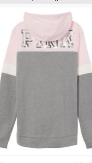 Vs pink bling tunic hoodie large for Sale in Hatfield, PA