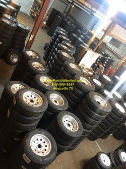 "Trailer tire rim combo, 15"", 16"", 12"", 13"", 14"", 10"" for Sale in Huntsville,  TX"