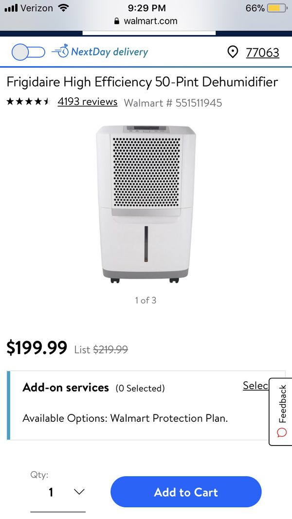 Almost new! Energy Star rated Frigidaire 50 pint dehumidifier