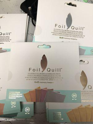 Foil quill heat foil sheets for Sale in Las Vegas, NV