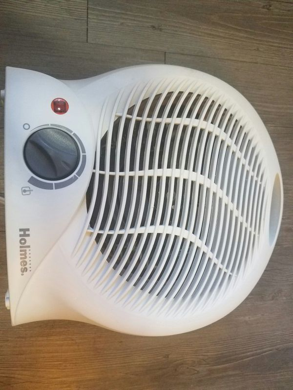 Holmes Compact Electric Fan-Forced Heater, Off-White, 1500W