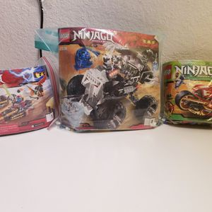 3 Lego Ninjago Sets *Skull Truck, Ninja Bike Chase & Kai's Blade Cycle* for Sale in Las Vegas, NV
