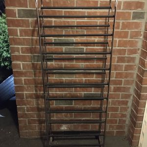 10 Tier Shoe Rack-Holds 50- Chrome Finish for Sale in North Brunswick Township, NJ