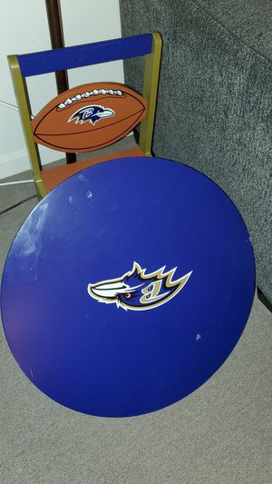 Kids Baltimore Ravens Table and Chair for Sale in Baltimore, MD