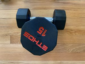 Brand new Ethos Dumbbells 15lbs set of two for Sale in Adelphi, MD
