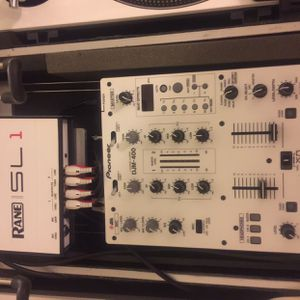 Pioneer DJM-400 Mixer with Rane Serato SL1 Box and wrapped with 12 Inch Skinz for Sale in Los Alamitos, CA