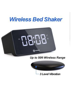 Digital Alarm Clock with Wireless Bed Shaker for Heavy Sleepers/Hearing Impaired,USB Charging Port for Mobile,Vibrating Alarm Clock for Bedrooms,Adju for Sale in Orange, CA