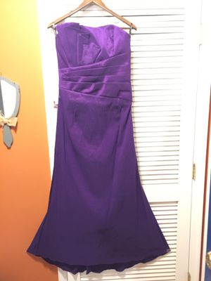 Women's Full Length Taffeta Dress Purple brand new! for Sale in Fort Belvoir, VA