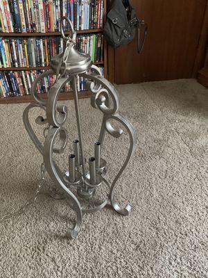 Silver light chandelier for Sale in Murfreesboro, TN