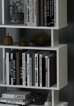 Modern Geometric Bookcase White/Black for Sale in Carlstadt,  NJ