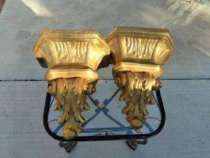 Gold Gilt Shelf Brackets Sconces for Sale in Las Vegas, NV