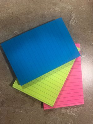 3 colorful notepads for Sale in Morgantown, WV
