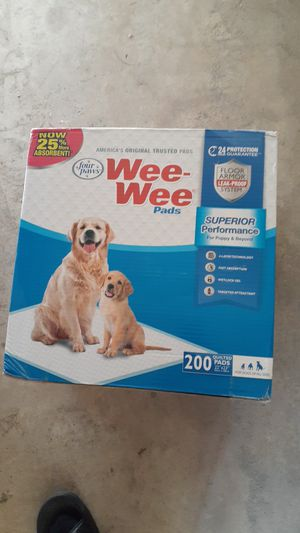 Wee-wee pads 200 quilted pads for dogs for Sale in Yucaipa, CA