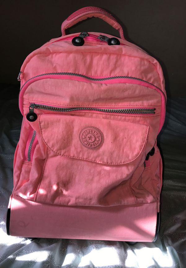 Kipling rolling backpack