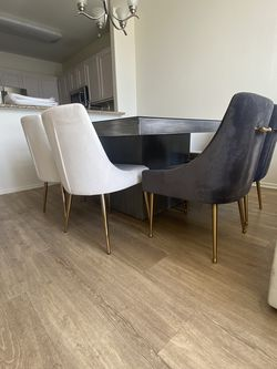 Dinning Table and 8 Velvet Gray Dinning Chairs for Sale in Los Angeles,  CA