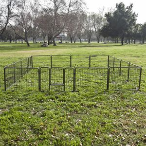 """New 24"""" Tall x 32"""" Wide Panel Heavy Duty 16 Panels Dog Playpen Pet Safety Fence Adjustable Shape and Space for Sale in Whittier, CA"""