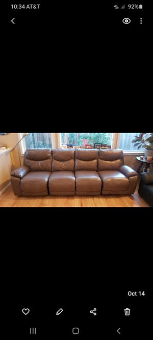 Ashley leather electric couch for Sale in Brentwood, CA